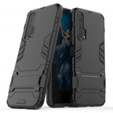 Θήκη Κινητού BBR Iron Αντικραδασμική ( Armor - Shockproof ) με ενσωματωμένη βάση στήριξης ( Kickstand ) για HONOR 20 PRO BLACK