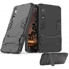 Θήκη Κινητού BBR Iron Αντικραδασμική ( Armor - Shockproof ) με ενσωματωμένη βάση στήριξης ( Kickstand ) για HUAWEI P20 Pro BLACK