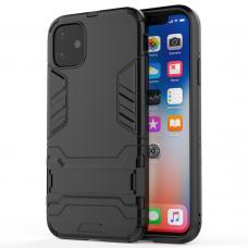 """Θήκη Κινητού BBR Iron Αντικραδασμική ( Armor - Shockproof ) με ενσωματωμένη βάση στήριξης ( Kickstand ) για i-PHONE 11 (6,1"""") BLACK"""