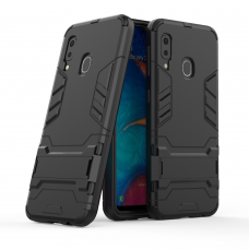 Θήκη Κινητού BBR Iron Αντικραδασμική ( Armor - Shockproof ) με ενσωματωμένη βάση στήριξης ( Kickstand ) για SAMSUNG Galaxy A20e BLACK