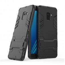 Θήκη Κινητού BBR Iron Αντικραδασμική ( Armor - Shockproof ) με ενσωματωμένη βάση στήριξης ( Kickstand ) για SAMSUNG Galaxy A8 PLUS BLACK