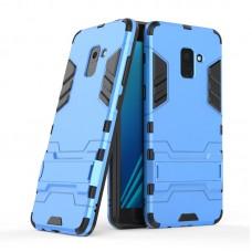 Θήκη Κινητού BBR Iron Αντικραδασμική ( Armor - Shockproof ) με ενσωματωμένη βάση στήριξης ( Kickstand ) για SAMSUNG Galaxy A8 BLUE