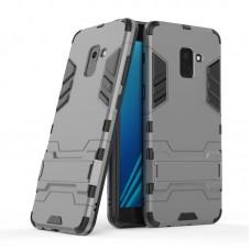 Θήκη Κινητού BBR Iron Αντικραδασμική ( Armor - Shockproof ) με ενσωματωμένη βάση στήριξης ( Kickstand ) για SAMSUNG Galaxy A8 GRAY