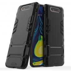 Θήκη Κινητού BBR Iron Αντικραδασμική ( Armor - Shockproof ) με ενσωματωμένη βάση στήριξης ( Kickstand ) για SAMSUNG Galaxy A80 BLACK